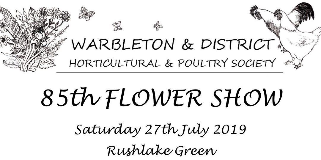 FLOWER SHOW on RUSHLAKE GREEN