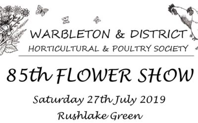 FLOWER SHOW on RUSHLAKE GREEN