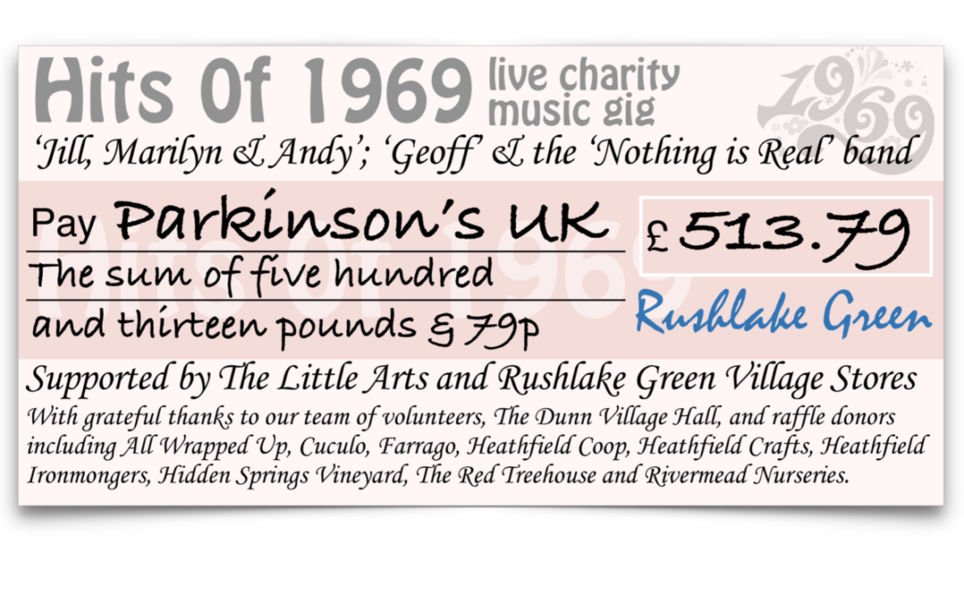 £513 RAISED FOR CHARITY with a WHOLE LOTTA LOVE & PEACE