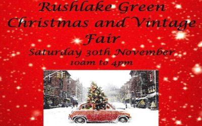 VINTAGE RUSHLAKE GREEN CHRISTMAS