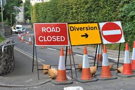 ROAD DIVERSION SENDING EXTRA TRAFFIC THROUGH RUSHLAKE GREEN