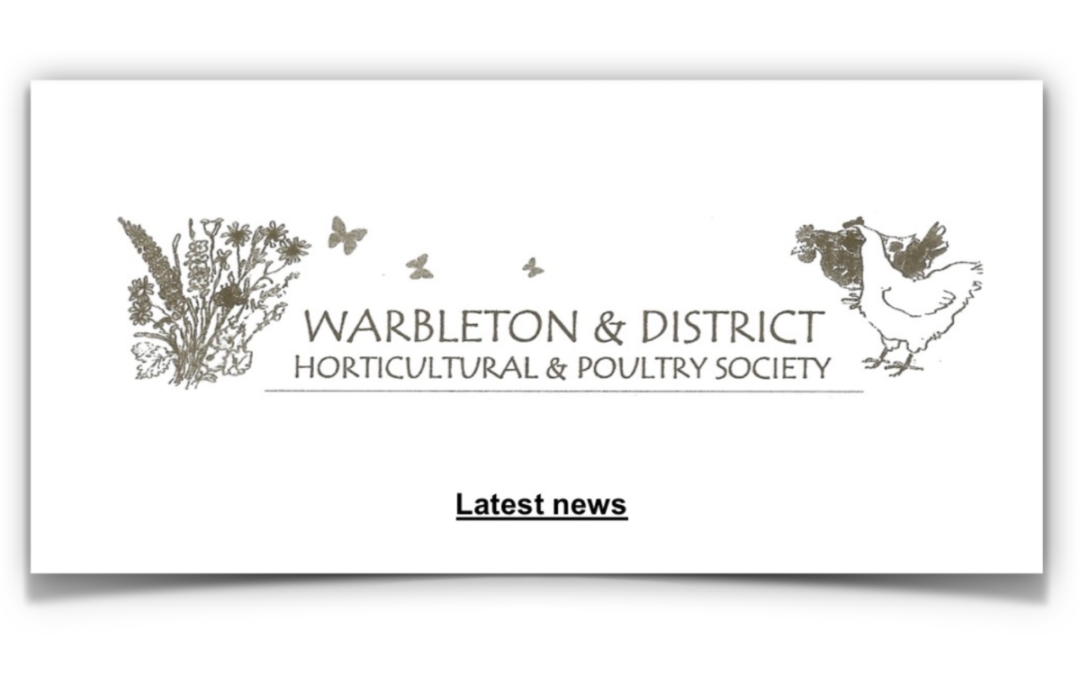 Horticultural Society May Newsletter