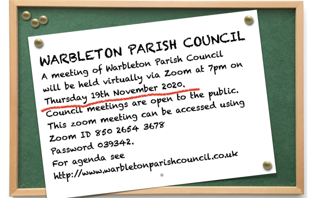WARBLETON PARISH COUNCIL MEETING