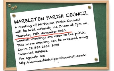 WARBLETON PARISH COUNCIL MEETING