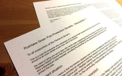 RUSHLAKE GREEN PUB PROTECTION SOCIETY – NEWS
