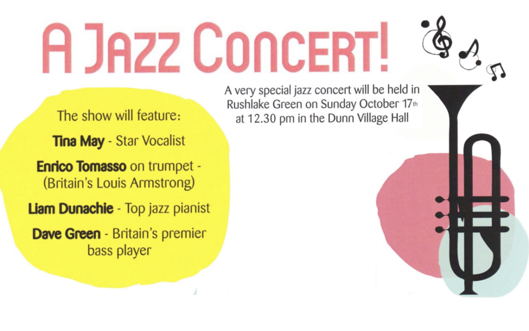 ALL THAT JAZZ – OCTOBER 17th – at the DUNN VILLAGE HALL